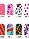 12 Nail Art-dekoration Strasspärlor makeup Kosmetisk Nail Art-design