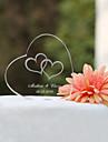 Vârfuri de Tort Personalizat Inimi / Cuplu Clasic Cristal Nuntă / Petrecerea Bridal Shower / Aniversare Temă Grădină / Temă ClasicăCutie