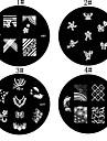 1PCS Nail Art Stamping Timbre Image de tasse Plate Série M n ° 3 (couleurs assorties)