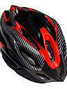 SHR EPS Material lätta bärbara justerbar cykelhjälmar (19 Vents, svart och röd)