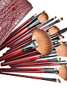 22PCS Professionell Kosmetisk Makeup borstar uppsättningen med Fashion Leather Bag