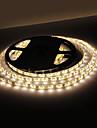 Rezistent la apă 5M 18W 300x3528 SMD lumină albă caldă LED Strip lampă (12V, IP44)