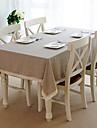 Lin Rectangulaire / Carre Nappes de table Couleur Pleine Economique Decorations de table 1 pcs