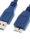 yongwei 0.3m 1ft un usb 3.0 masculin la micro USB 3.0 mascul albastru 0.3m