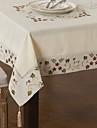 bej lenjerie de pat / amestec de bumbac bucătărie pătrat tabel de bucătărie& mese