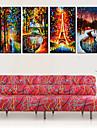 Stretchad Kanvastryck Kanvas set Landskap Fyra paneler Horisontell Tryck väggdekor Hem-dekoration