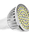 6500 lm GU10 LED-spotlights MR16 60 lysdioder SMD 3528 Naturlig vit AC 110-130V AC 220-240V