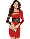 Red Dress Body-flatant (Bust :86-102 cm talie :58-79cm Hip :90-104cm Lungime: 78cm)