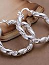 Cercei Rotunzi  Aliaj Cross Shape Argintiu Bijuterii Pentru Zilnic