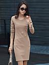 RLK mânecă subțire lung bottom rochie 1499 de migdale, rosu, bleumarin, negru