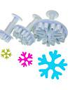 Snowflake Femuddig Shape Nock Cutter Set av 3 st