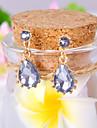 Pentru femei Cercei Picătură Lux Elegant Modă European Pietre sintetice Diamante Artificiale Aliaj Picătură Bijuterii Zilnic