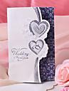 """Împăturit în 3 Invitatii de nunta 50-Invitații Stil Inimă Hârtie Perlă 7 1/2 """"×6 1/4"""" (19*13.5cm)"""