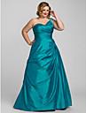 A-line rochie de mireasa printesa un umar podea lungime taffeta prom quinceanera rochie cu beading de ts couture®