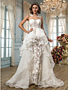 Lanting Bride® Linia -A / Prințesă Statură Petite / Mărime Plus Rochie Nuntă - Șic & Modern / Elegant & Luxos Inspirație Vintage Asimetric