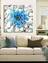 Stretchad Kanvastryck Botanisk Tre paneler Horisontell Tryck väggdekor Hem-dekoration