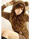 Femeile lui Cute Fleece Ursul Coat