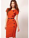 Shozilan Femeile cu Dress șase butoane lung