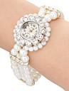 pentru Doamne Ceas La Modă Ceas de Mână Ceas Brățară Quartz imitație de diamant Bandă Flori Perle Elegant Negru Alb Auriu