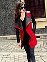 Femei guler larg Cusături Tweed Coat