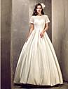 Linia -A Iluzii Lungime Podea Satin Rochie de mireasă cu Decorat de LAN TING BRIDE®