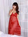 Femei Transparent dantelă Sleepwear Pijamale Halterneck