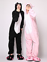 Kigurumi Pijamale Purcel / Porc Onesie Pijamale Costume Flanel Lână Negru Cosplay Pentru Adulți Sleepwear Pentru Animale Desen animat
