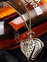 Femeile Herz Stil de metal cuarț ceas de buzunar colier