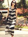 Stilul boem vesta retro rochie maxi femei