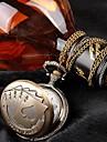 Femeile Poker Stil de metal cuarț ceas de buzunar colier