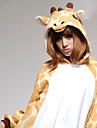 Kigurumi-pyjamas Giraff Onesie-pyjamas Kostym Korallfleece Orange Cosplay För Pyjamas med djur Tecknad serie halloween Festival / högtid
