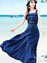 Femei Bohemian Style Lacing Dress