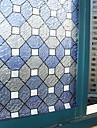 Geometrică Clasic Geam Film,PVC a vinyl Material fereastra de decorare