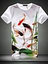 Bărbați de înaltă calitate 100% bumbac cu maneci scurte T-shirt