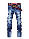 Bărbați personalitate Grid Splicing Jeans (fără curea)