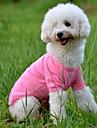 Hund T-shirt Hundkläder Enfärgad Gul Röd Grön Blå Rosa Kostym För husdjur