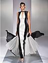 Linia -A Bijuterie Lungime Podea Georget Bal Seară Formală Bal Militar Rochie cu Dantelă de TS Couture®