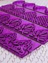 Plast DIY Fondant kaka Utsmyckning Edge Frill Ribbon Embosser Sugarcraft Modellering Mögel Set om 4
