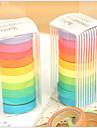 Färgglada regnbåge designband (uppsättning 10) för skolan / kontoret