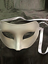 Blinkande Flattop Vit PVC Party halvmask