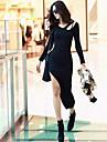 Femei neregulat V-decolteu Sexy Party Black Dress
