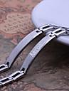 Cadouri personalizate simplu bijuterii de design de argint bărbați din oțel inoxidabil gravate ID Bratari 0.8cm Lățime