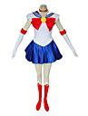 Inspirat de Sailor Moon Sailor Moon Anime Costume Cosplay Costume Cosplay Rochii Peteci Fără manșon Rochie Mănuși Șosete Colier Fundă