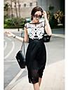 Femei New Style Flower Slim plisate Dress