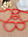 Plastic Love Heart Shape Cookie Mold Set med 6 st, 11.5x11x1.5cm (Random färg)