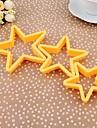 Plastic cu cinci colțuri stele Biscuiți mucegai Set de 3 piese, 10.3x5.2x1.1cm (Random Color)