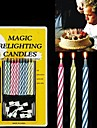 10PCS Mixed-Color Magic relighting Ljus practical joke Prylar