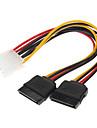 IDE la 2 Serial ATA HDD hard-disk Cablu de alimentare (0,15 M)