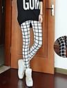 Alb-negru Plaid pantaloni legging elegante femei