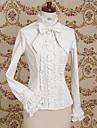Classic Lolita Dress Lolita Women\'s Blouse / Shirt Cosplay White / Coffee Long Sleeve Lolita Halloween Costumes